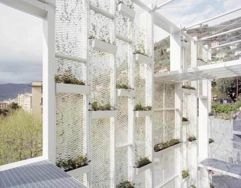 arquitectura en malla - mallas arquitectonicas - arquitectura con malla desplegada